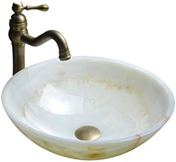 カウンター盆地アート流域ストーンラウンドクリエイティブ洗面アメリカの大理石洗面上記 P3/23 (Color : B)