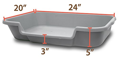 Review PuppyGoHere Dog Litter Box by Recycled Gray Color 24″x20″x15″ Training your dog is necessary. Choose the right size for your dog. Great for Senior Cats and Rabbits.Training guide included USA