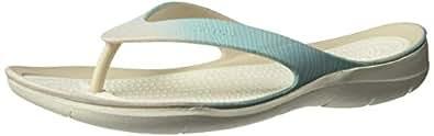 Crocs Women's Swiftwater Seasonal Flip, Pool Ombre/White, W4