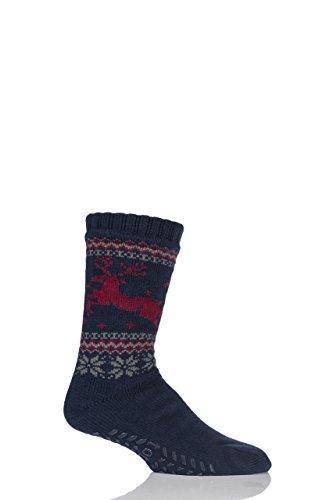 Totes Sherpa Christmas Fairisle Slipper