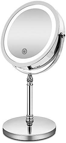 ライトで10倍ダブルと化粧鏡がタッチ調光バースミラーのギフトを充電バニティミラーUSBを両面