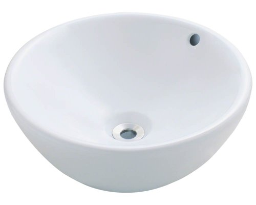 V2200-W White Porcelain Vessel Lavatory Sink by MR Direct