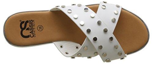 CASSIS COTE D'AZUR Women's Delphes Mules White (Blanc) rz6QuhzD2x