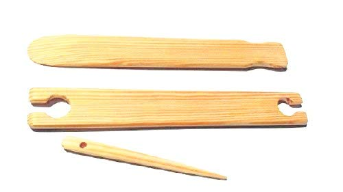 3 Piece 24 inch x 1.5 weaving stick shuttle and Pick up stick