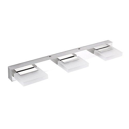 Ikakon 3 LED Vanity Light Acrylic Bathroom Lighting Fixtures for Bathroom , 360 Rotation,(Color) White