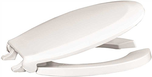 Premier 283034 Extra Heavy Duty Commercial Round Open Front Plastic Toilet Seat With Lid And Stainless Steel White Hardware Amazon Com Industrial Scientific
