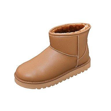 Deutsches Elektronen-Synchrotron Damen Stiefel Snow Boots Fashion Stiefel Fall Winter PU Casual Kleid Camel Beige Weiß Gold unter 1in camel
