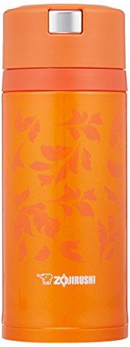 Zojirushi water bottle stainless steel mug 360ml Vivid Orange Quick & Easy open lock SM-XC36-DV