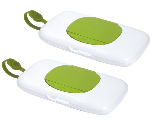 OXO Tot On-the-Go Wipes Dispenser, 2 Pack, Green