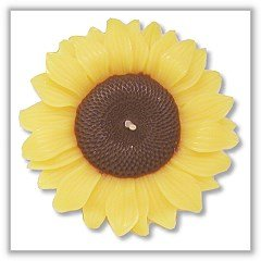 "Sunflower Blossom Floating Candles - 3"" diameter"