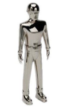 Gort Robot - Rocket USA - The Day The Earth Stood Still figurine Gort métal (chrome) 13 cm