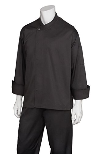 Chef Works Men's New Yorker Cool Vent Chef Coat, Black, Medium by Chef Works