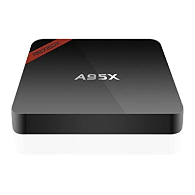 NEXBOX A95X Android 6.0 TV Box Amlogic S905X Quad Core 3D 4K HD Support 2.4G Wi-Fi 1GB/8GB Streaming Media Player with Learning Remote