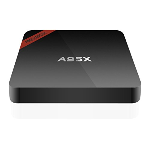 NEXBOX A95X Android 6.0 TV Box Amlogic S905X Quad Core 3D 4K HD Support 2.4G Wi-Fi 1GB/8GB Streaming Media Player with Learning - Tv 1 Gb