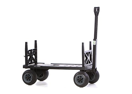 Sports Equipment Cart Beach Carts and Wagons for Sand with 4 Rolling Wheels Haul Cooler Umbrella Chairs (Sports Equipment & Outdoor Gear)