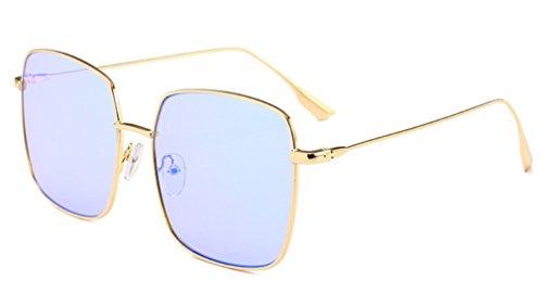 Cara Gafas de B Moda Anti Definición Conducción Sol E UV Delgada Gafas Luz Cuadrada MOQJ de Alta Marco de Bloqueo Gran de Unisex dIwxBZpq0