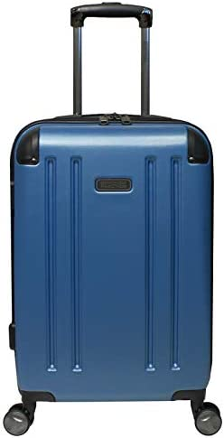 Kenneth Cole Reaction 8 Wheelin Expandable Luggage Spinner Suitcase 20 Ocean Blue