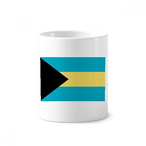 The Bahamas National Flag North America Country Toothbrush Pen Holder Mug White Ceramic Cup 12oz