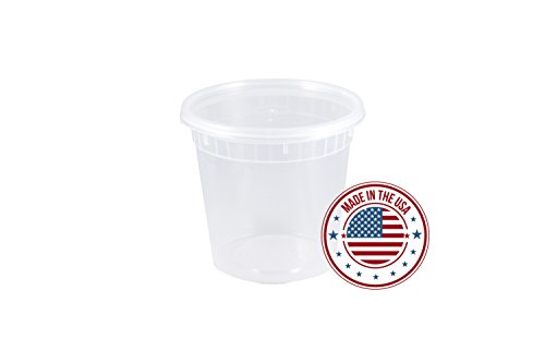 Deli Containers by HeloGreen | 24 Ounce Deli Food Clear Takeout Travel Storage Containers With Lids, Premium Quality Microwavable, Freezer and Dishwasher Safe, BPA-Free, Made in USA - (240 Count)