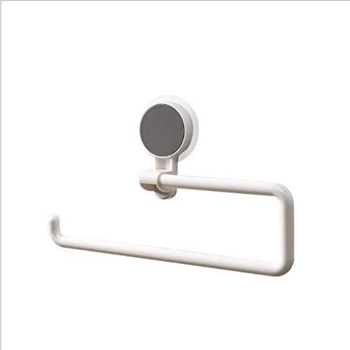 Kitchen Paper Holder Self-adhesive Label Paper Roll Holder For Bathroom Towel Rack Storage shelf (Color : White)