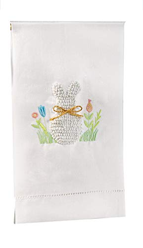 Mud Pie White Bunny French Knot Towel -