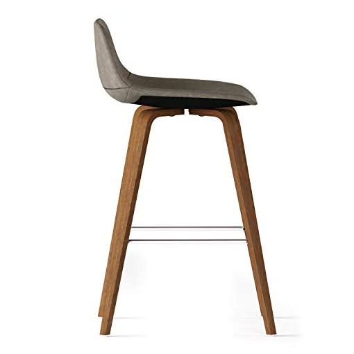 Kitchen SIMPLIHOME Randolph Bentwood Height (Set of 2) Counter Stool, 26 inch, Distressed Grey modern barstools