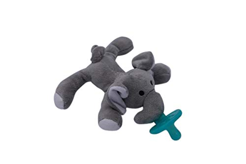 Baby Pacifier Holder | Soft Plush Newborn Toys | Animals for Kids | Soother | (Eddie Elephant)