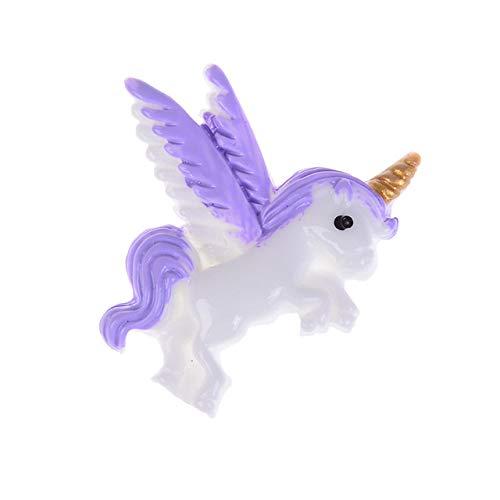 - MOJITO LIVING PTE 5pcs/lot Mini Cute Flatback Resin Unicorn Kawaii Resin Cabochons Accessoires Miniature Figurines Wholesale