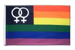 Arco iris de la bandera de mujer lesbiana Venus, hacer tartas 3. x 5 pies, MaxFlags