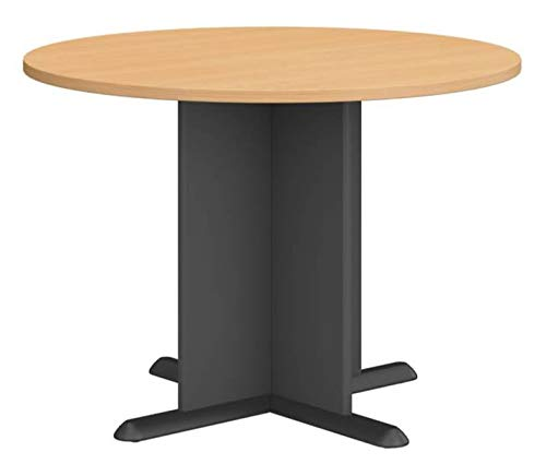 Fairplex 3.5' Circular Conference Table Finish: Euro Beech/Slate Gray