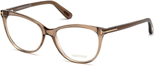 TOM FORD Eyeglasses FT5513 045 Shiny Light Brown