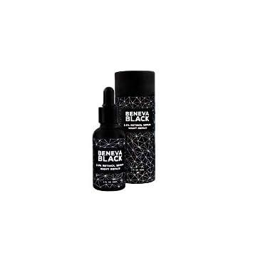 Beneva Black 2 5 Retinol Serum With Vitamin E Vitamin C Hylauron Long And Short Chain Jojoba Oil Best Anti Aging Anti Wrinkle Firming Serum 2018 For Skin Face Décolleté And Body Amazon De