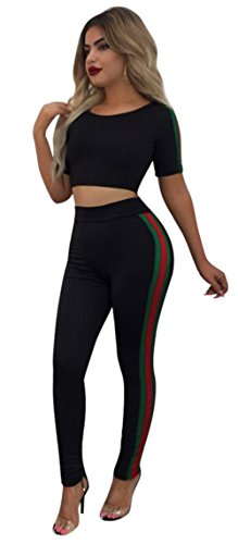 Plus Size Outfit (Corala Women Crop Top and Long Pants Jumpsuits 2 Piece Outfit Tracksuits)
