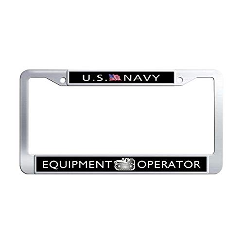 US Navy Equipment Operator License Plate Frame,Stainless Steel Auto License Cover Holder