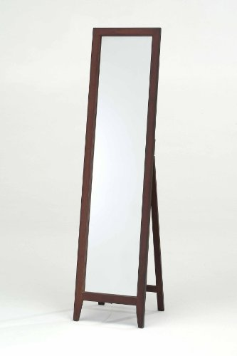"Kings Brand Furniture Kings Brand Walnut Finish Solid Wood Frame Floor Mirror, 15&quot x 15.7""x 59&Quoth - Mounting type: Freestanding - mirrors-bedroom-decor, bedroom-decor, bedroom - 31iJZ48RSKL -"