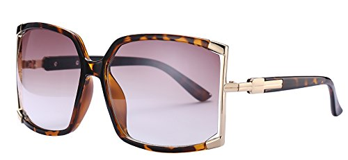 Newest Design Women's sunglasses UV Protection Oversized Square Sunglasses (Leopard, As - Sunglasses Newest
