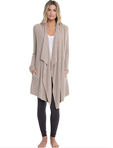 - Barefoot Dreams CozyChic Lite Island Wrap (Taupe, Large/X-Large)
