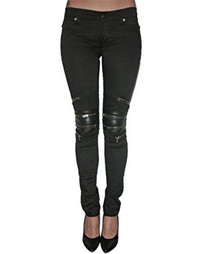 826264b96545 Tripp NYC pantalla Skinny Jeans para mujer de piel sintética con ...