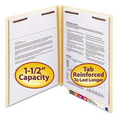 Heavy W-Fold Expansion Folders - Two Fasteners - End Tab - Letter - Manila - 50 box By: Smead