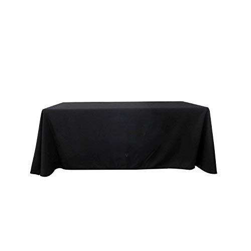 BANNER BUZZ MAKE IT VISIBLE Blank Full Color Table Covers & Throws 3-Sided, 100% Polyester Table Cover Cloth for Tradeshow, Exhibition (Black, 6' X 2.5') -