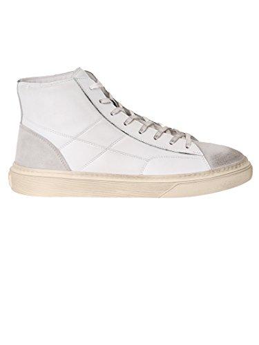 Hogan Herren Hxm3400j560hwp240d Weiss Leder Hi Top Sneakers