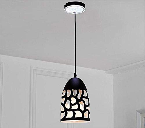 Oudan Black Wrought Iron Chandelier Restaurant Bar Does Not Include The Creative Industries Simply Personality Chandelier Light Source (Form: B-5) Led (Color : B-Single Head)