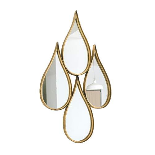 RUNWEI Hanging Mirror Frame Wall Mirror Glass Panel Bedroom, Or Bathroom Oversized -
