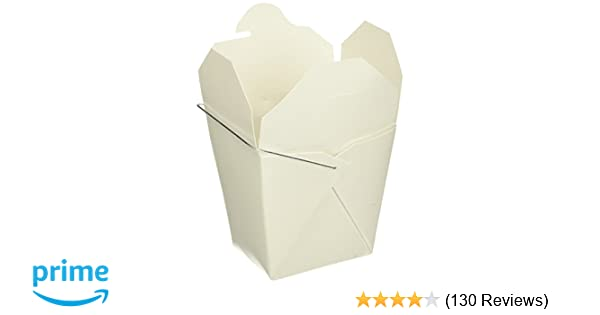 e66da6229 Amazon.com  W.Y. INDUSTRIES INC. B0050PPCE4 16 oz. Chinese Take Out Food  Boxes Lot of 50 White  Kitchen   Dining