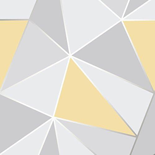 Fine Decor fd41991 Wandtapete mit geometrischem Muster in gelb-grau
