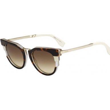 Fendi Women's Bold Sunglasses, Havana Beige Gold/Brown, One (Fendi Occhiali Da Sole)