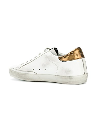 Golden Goose Sneakers Donna G31WS590C73 Pelle Bianco/Oro
