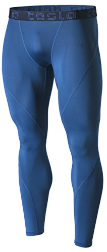 TM-MUP19-PBL_X-Large Tesla Men's Compression Pants Baselayer Cool Dry Sports Tights Leggings MUP19