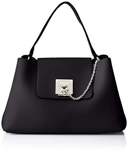 Mujer Bolsos Shoppers black Ck Calvin Lock Klein De Hombro Negro Y Shoulder YwqzTqI