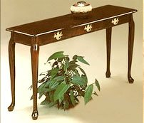 Cherry Entrance Foyer / Hall Table Sofa Table Queen Anne